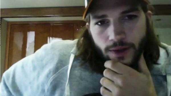 Ashton Kutcher appears in a still from a video posted on Chime.in on October 19, 2011. - Provided courtesy of Chime.in/user/aplusk