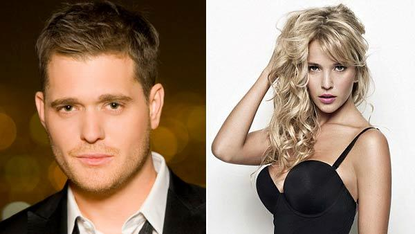 Michael Buble appears in an undated promotional image from his official website. Argentine TV actress Luisana Lopilato appears in an undated promotional photo from for Ultimo. - Provided courtesy of MichaelBuble.com / Ultimo
