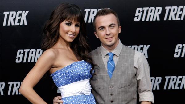 Frankie Muniz arrives at the premiere of 'Star Trek' in Los Angeles on Thursday, April 30, 2009.