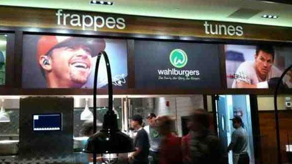 An interior shot of Wahlburgers, the new restaurant owned by Mark, Donnie and Paul Wahlberg, as posted on the Twitter page of user KING_Scott23rd on Oct. 25, 2011. - Provided courtesy of twitpic.com/75sl38 / twitter.com/KING_Scott23rd
