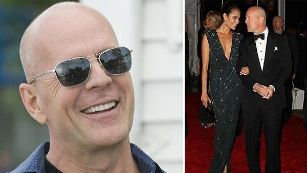 Bruce Willis appears in a scene from the 2010 movie 'Cop Out.' / Bruce Willis and his wife Emma Heming-Willis appear together at the 2010 Met Costume Institute Gala in New York, as seen in a photo posted on her Facebook page on March 4, 2010.
