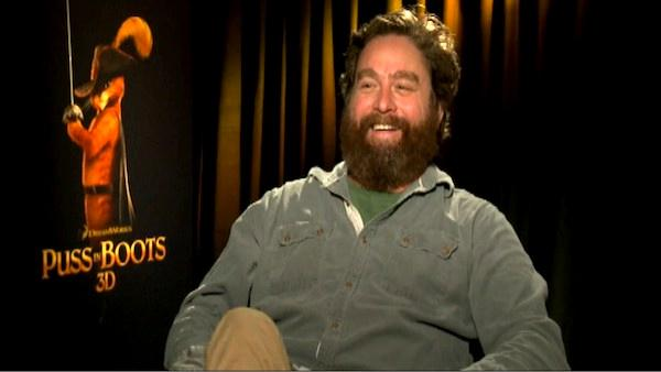 Zach Galifianakis talks 'Puss in Boots'