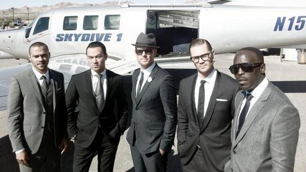Jesse Williams, Chris Jones, Matt Goss, Chad Michael Murray and Michael Kenneth Williams appear in a photo posted on Goss Twitter page on October 27, 2011. - Provided courtesy of Lockerz.com/s/150790947