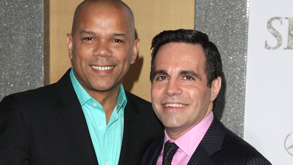 Mario Cantone and Jerry Dixon attend the premiere of Sex And The City 2 at Radio City Music Hall in New York on Monday, May 24, 2010. - Provided courtesy of AP Photo/Peter Kramer