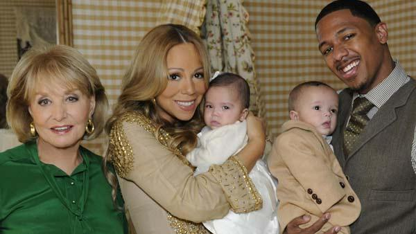 Mariah Carey, Barbara Walters, Nick Cannon and Moroccan and Monroe appear in a still from 20/20. - Provided courtesy of ABC / Donna Svennevik