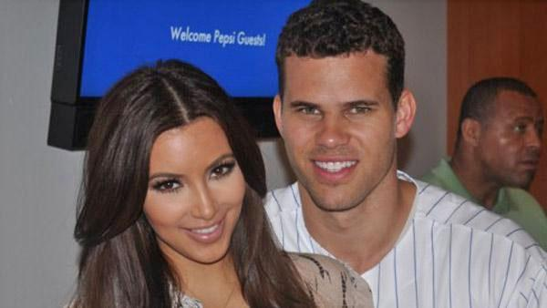 Kim Kardashian and Kris Humphries appear in a photo posted on Kardashian's official website on July 12, 2011