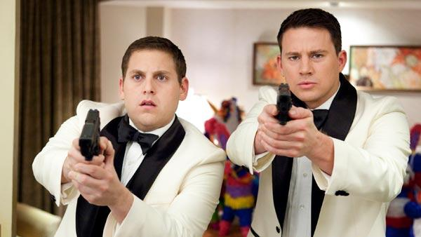 Channing Tatum appears in a photo with Jonah Hill from their 2012 comedy film, 21 Jump Street. - Provided courtesy of Sony Pictures