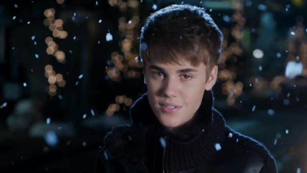 Justin Bieber appears in a scene from his 2011 Christmas single, Mistletoe. - Provided courtesy of The Island Def Jam Music Group
