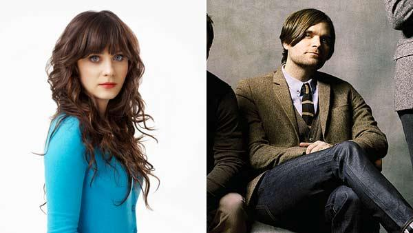 Pictured: Zooey Deschanel appears in a 2011 promotional photo for The New Girl on the left. On the right, Ben Gibbard appears in a promotional photo in 2011 for his band Death Cab for Cutie. - Provided courtesy of Fox / Warner Music