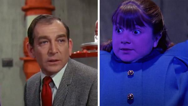 Leonard Stone appears as Sam Beauregarde and Denise Nickerson appears as her daughter Violet in the 1971 film 'Willy Wonka and the Chocolate Factory.'