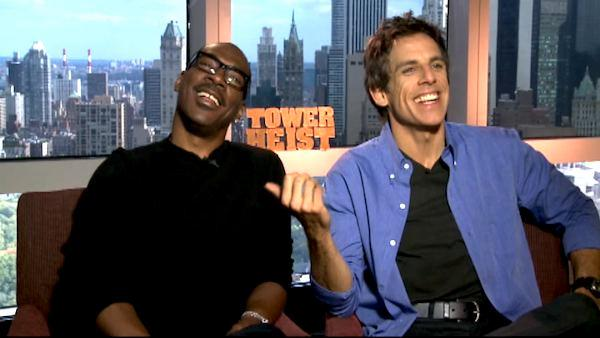 Ben Stiller and Eddie Murphy on 'Tower Heist'
