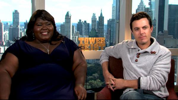 Gabourey Sidibe and Casey Affleck on 'Tower Heist'