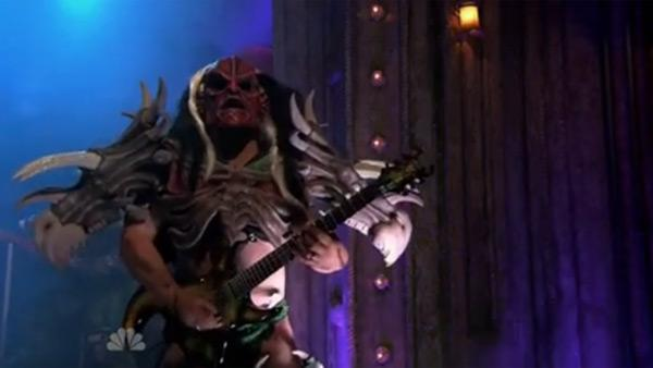 Cory Smoot performs with GWAR on NBCs Late Night with Jimmy Fallon on Oct. 27, 2011. - Provided courtesy of NBC