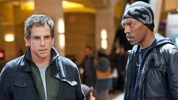 Ben Stiller and Eddie Murphy appear in a still from the 2011 film, Tower Heist. - Provided courtesy of Universal Pictures / David Lee