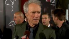 Clint Eastwood talked to OnTheRedCarpet.com host Chris Balish at the premiere of J. Edgar in Los Angeles on Nov. 3, 2011. - Provided courtesy of OTRC