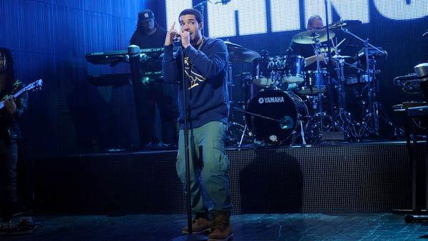 Drake performs on the October 29, 2011 episode of Saturday Night Live. - Provided courtesy of NBC