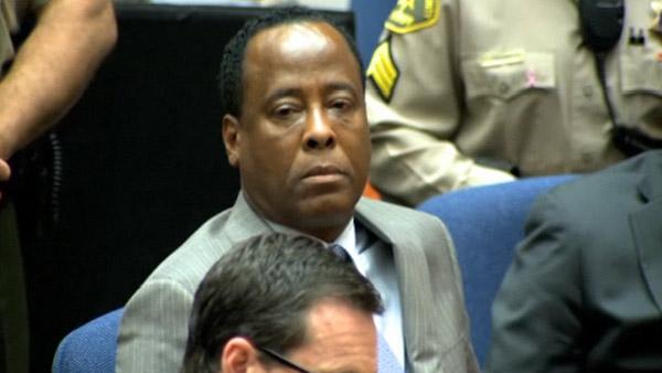 Nov. 7, 2011: Michael Jacksons doctor Conrad Murray reacts as a jury announces its verdict regarding his involuntary manslaughter charge after a six-week trial. - Provided courtesy of OTRC