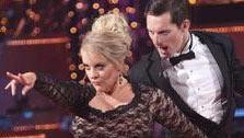 Television host Nancy Grace and her partner Tristan Macmanus received 24 out of 30 from the judges for their Tango and 20 out of 30 for their Instant Jive, for a total of 44 on the November 7 episode of Dancing With The Stars. - Provided courtesy of ABC Photo