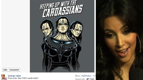 George Takei jokes about Kardashians on facebook