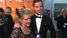 Nancy Grace talks to OnTheRedCarpet.com after eighth Dancing With The Stars results show on Nov. 8, 2011. - Provided courtesy of OTRC