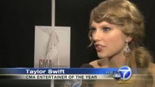 Taylor Swift talks to KABC Television after winning Entertainer of the Year at the 2011 CMA Awards. - Provided courtesy of OTRC