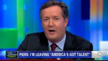 Piers Morgan announces on his CNN talk show Piers Morgan Tonight on Nov. 9, 2011 that he is stepping down as a judge on the NBC series Americas Got Talent. - Provided courtesy of CNN / Turner Broadcasting