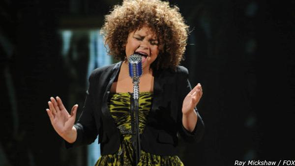 Rachel Crow sings on the FOX show The X Factor on Wednesday, Nov. 9, 2011. - Provided courtesy of AP / Ray Mickshaw / FOX