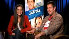 Katie Holmes and Adam Sandler talk to OnTheRedCarpet.com about Jack and Jill. - Provided courtesy of OTRC