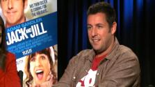 Adam Sandler jokes that he should be able to take down Al Pacino, who is 71 years old, in a fight.