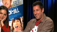 Adam Sandler says his friends all love Katie Holmes now after the two filmed Jack & Jill.