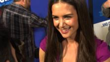 Katie Holmes jokes that she got along really well with Jill, Adam Sandlers female character in Jack & Jill.