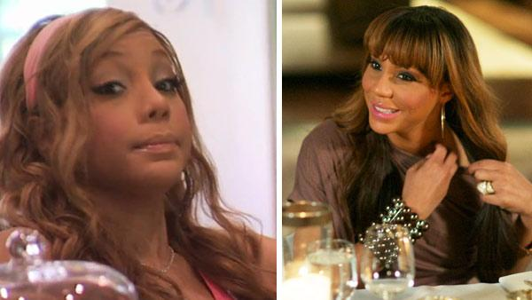 Tamar Braxton appears in a scene from 'Braxton Family Values' in an episode that aired on Nov. 10, 2011. / Tamar Braxton appears in a promotional photo for 'Braxton Family Values,' released in March 2011
