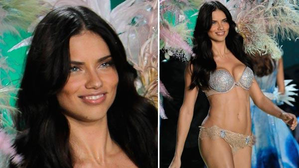 Adriana Lima wears a two million dollar diamond encrusted bra during the Victoria's Secret Fashion Show in New York, Wednesday, Nov. 10, 2010.