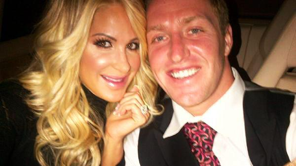 Kim Zociak and Kroy Biermann appear in a photo posted on her official Facebook page.