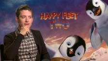 Elijah Wood speaks to OnTheRedCarpet.com about the movie Happy Feet Two at a press junket for the film in Los Angeles in November 2011. - Provided courtesy of OTRC
