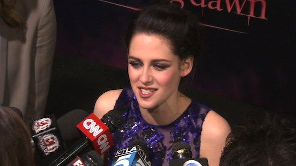Kristen Stewart talks fans, wedding dress