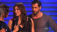 Hope Solo and Maksin Chmerkovskiy are eliminated from Dancing With The Stars on Nov. 15, 2011. - Provided courtesy of ABC