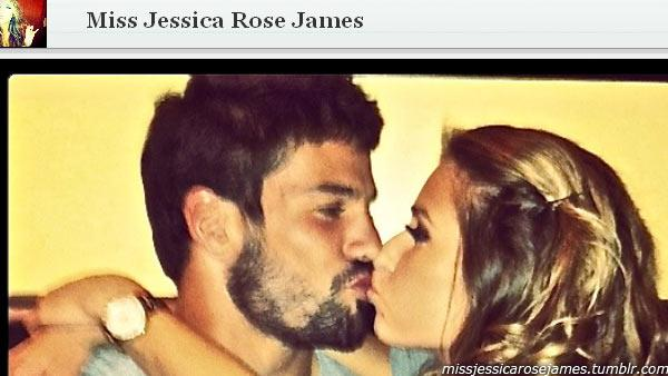 Jessie James appears with NFL player Eric Decker in this photo posted on her Tumblr page on Nov. 12, 2011. - Provided courtesy of missjessicarosejames.tumblr.com/