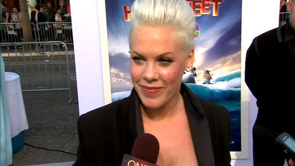 Pink talks 'Happy Feet Two' and motherhood