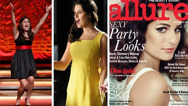 Lea Michele appears in a scene from Glee in a season 1 episode /  Lea Michele appears in a scene from Glee in a season 3 episode / Lea Michele appears on the cover of Allure magazines December 2011 issue. - Provided courtesy of OTRC / Carin Baer / Mike Yarish / FOX