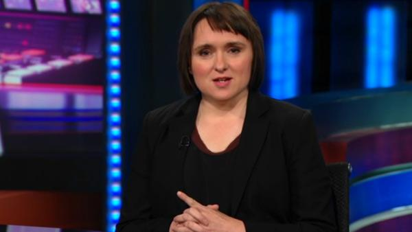 Sarah Vowell appears on The Daily Show on November 18, 2011. - Provided courtesy of Comedy Central