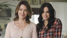 Christa Miller and Courteney Cox appear in a still from Cougar Town. - Provided courtesy of ABC / Michael Ansell
