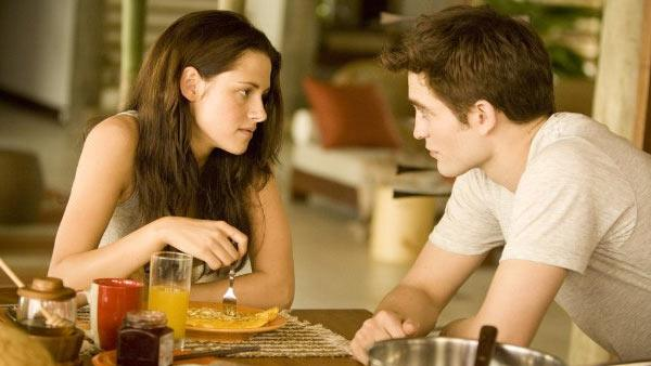 Robert Pattinson and Kristen Stewart appear in a still from the 2011 film, The Twilight Saga: Breaking Dawn - Part I. - Provided courtesy of Summit Entertainment / Andrew Cooper