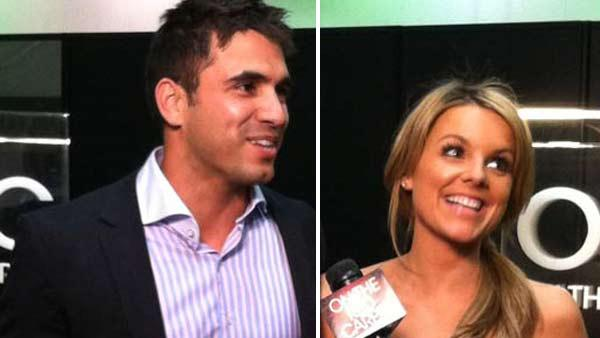 Ali Fedotowsky and Roberto Martinez of The Bachelorette talk to OnTheRedCarpet.com about wedding plans at the Reality Rocks Expo in Los Angeles in April 2011. - Provided courtesy of OTRC