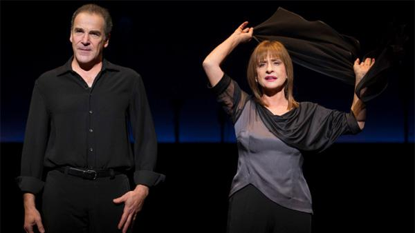 In this theatre image released by Boneau/Bryan-Brown, Mandy Patinkin, left, and Patti LuPone perform in An Evening with Patti LuPone and Mandy Patinkin at the Barrymore Theatre in New York. - Provided courtesy of AP / Boneau/Bryan-Brown, Joan Marcus