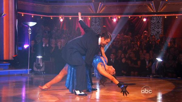 Keeping Up With The Kardashians star Rob Kardashian and his partner Cheryl Burke during their freestyle dance on Dancing With The Stars on November 21, 2011. - Provided courtesy of OTRC