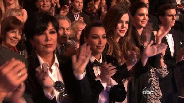 Kim Kardashian appears in the audience of Dancing With The Stars on November 21, 2011. - Provided courtesy of ABC