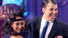 All My Children actor and Iraq War veteran J.R. Martinez and his partner Karina Smirnoff received 24 out of 30 from the judges for their Cha Cha Cha and 30 out of 30 for their Freestyle dance for a total of 53 out of 60 points on the November 21. - Provided courtesy of ABC