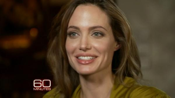 Angelina Jolie appears on CBS show 60 Minutes in November 2011. - Provided courtesy of CBS