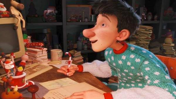 A scene from the 2011 movie Arthur Christmas, which stars Eva Longoria, James McAvoy, Hugh Laurie, Jim Broadbent and Bill Nighy.